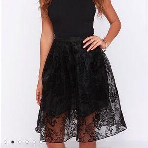 Black sheer tulle skirt